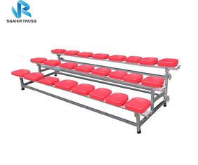 Aluminum Alloy 3 Row Bleachers , Mobile Grandstand For School / University