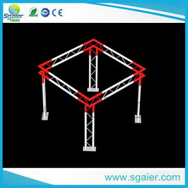 High Performance Aluminum Truss Display Customized Length Black / Gold Color