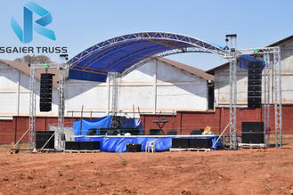 Outdoor Concert Aluminum Truss Frame , 290mm - 1200mm Aluminum Stage Truss