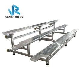 Seating Steel / Aluminum Stadium Bleachers Adjustable Height Customized Color supplier