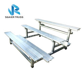 Metal Demountable Portable Bleacher Seats , School Outdoor Aluminum Bleachers supplier