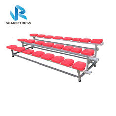 2 - 5 Rows Outdoor Aluminum Stadium Bleachers Metal Structure Bench Grandstand supplier