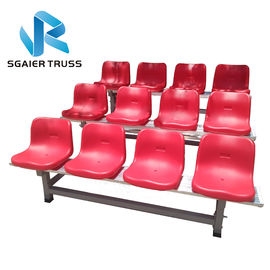 1000kgs / M2 Portable Bleachers On Wheels , Sgaier Outdoor Stadium Seat
