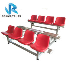 Flexible Outdoor Aluminum Stadium Bleachers Economic 2 - 5rows Long Bench