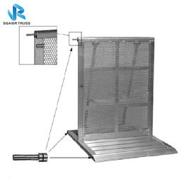 Portable Metal Crowd Barriers For Performance , Lightweight Crowd Control Gates