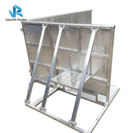 Folding Road Safety Barrier , High Security Sgaier Stage Barrier With Trolly