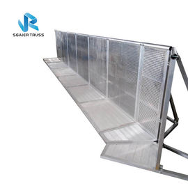 Silver / Black Entry Crowd Control Barrier Customized Size 5 Years Warranty
