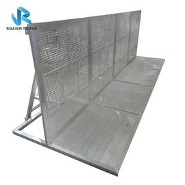 1.0 * 1.25 * 1.2m Aluminum Crowd Control Barrier With Slope Outdoor Use supplier