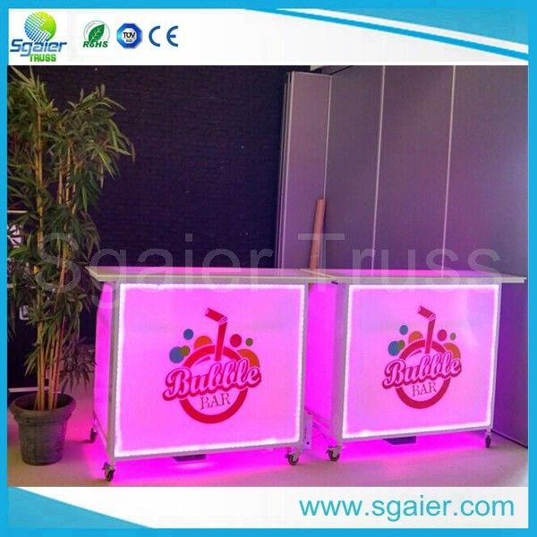 Acrylic Led Commercial Portable Bar , High Strength Portable Breakfast Bar