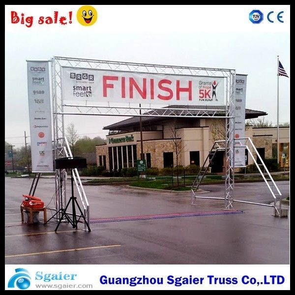 Spigot Finish Line Frame Lighting Gantry Systems Banner For Marathon Easy To Install