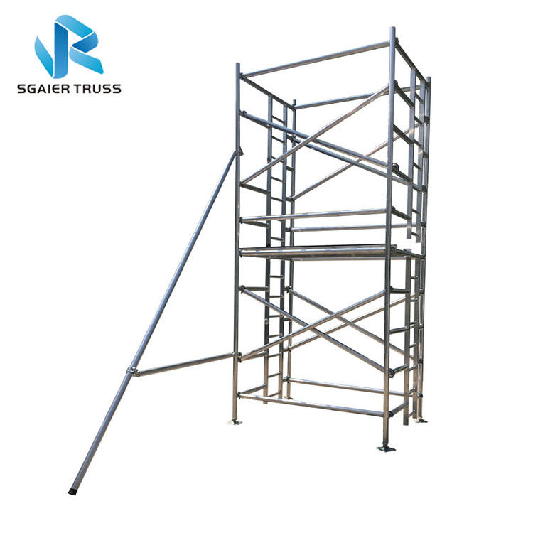 H Frame Platform Aluminium Mobile Scaffold Stable Performance Easy To Carry