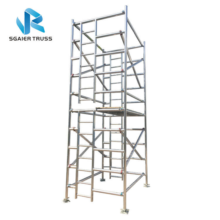 Building Material Aluminium Mobile Scaffold Adjustable Tower Height Easy Handling