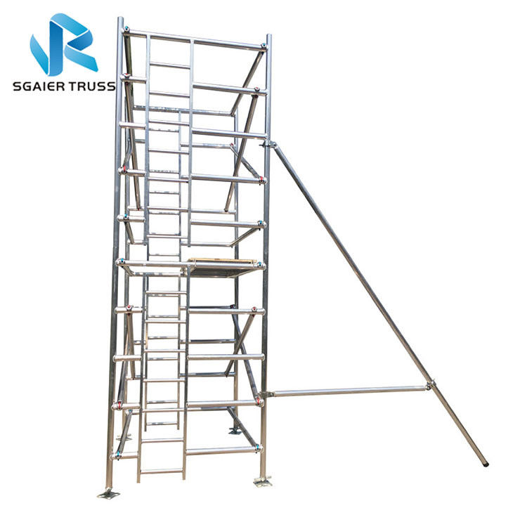 Rising Aluminium Mobile Scaffold For Quick Erect Sysytem Ce / Tuv / Sgs Certified