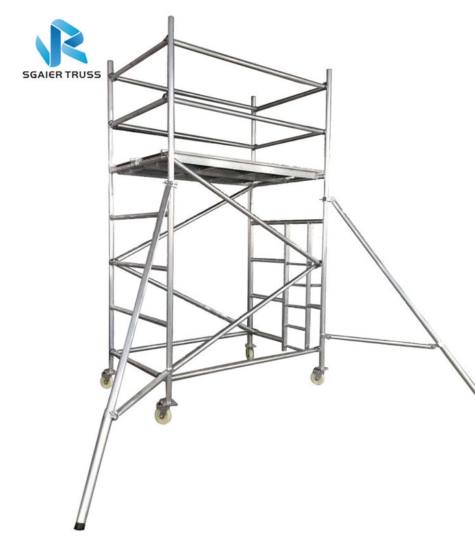 Multi Functional Ringlock Scaffolding System , High Strength Portable Scaffold Tower