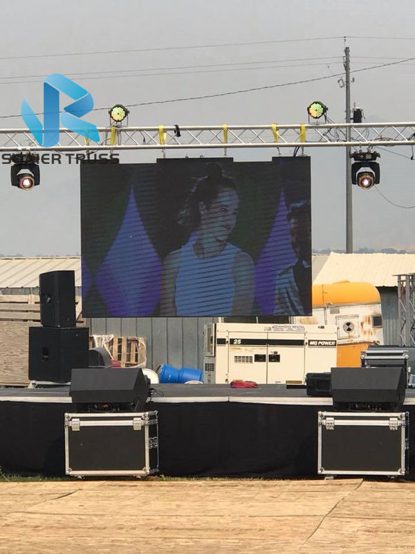 Ground Aluminium LED Screen Truss High Performance For Lighting / Speaker