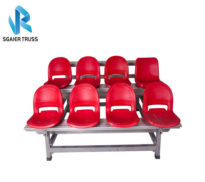 2 - 5 Rows Outdoor Aluminum Stadium Bleachers Metal Structure Bench Grandstand