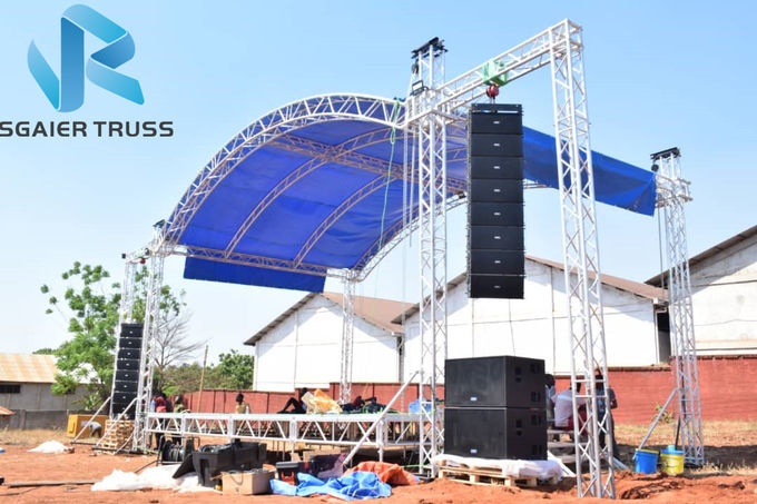 Welded Aluminum Flat Roof Truss In Concert For Large Scale Performance